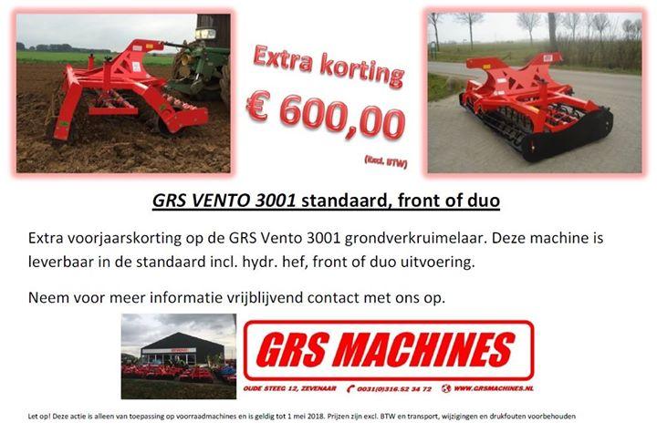 --> ACTIE, KORTING GRS MACHINES